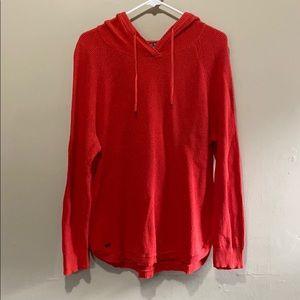 XL Lauren Ralph Lauren Red Hood Waffle Sweatshirt